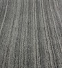 HDP Grey & Black Wool 92 x 64 Inch Hand Woven Solid Carpet