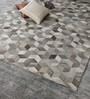 HDP Grey Leather 96 x 66 Inch Hand Made Carpet