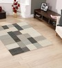 HDP Grey Wool 55 x 79 Inch Solid Area Rug