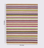 HDP Multicolour Wool 72 x 56 Inch Hand Woven Flat Weave Area Rug