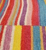 HDP Multicolour Wool 80 x 56 Inch Hand Woven Loom Knotted Carpet