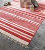 Camilio Area Rug in orange and white by CasaCraft