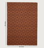 HDP Orange Wool 80 x 56 Inch Hand Woven Flat Weave Area Rug