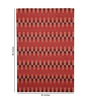 HDP Red Wool 80 x 56 Inch Hand Woven Flat Weave Area Rug
