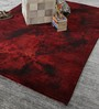 HDP Red Wool 80 x 56 Inch Indian Hand Knotted Over Dye Carpet