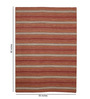 HDP Rust Wool 80 x 56 Inch Hand Woven Loom Knotted Carpet