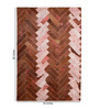 HDP Tan Pink Leather 72 x 48 Inch Hand Made Carpet