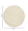 HDP White Wool 30 Inch Hand Carved Tufted Round Carpet