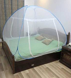 Healthgenie Double Bed Foldable Blue Polyester Mosquito Net