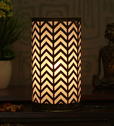 Height Of Designs Gold And Black Iron Zig Zag Table Lamp