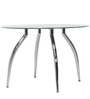 Headen Four Seater Dining Table in Silver Colour by Godrej Interio