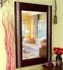 Aaron Decorative Mirrors in Brown and Brass by CasaCraft