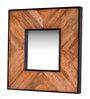 Heera Hastkala Brown Metal & MDF Painted Decorative Mirror