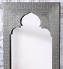 Heera Hastkala Grey Mango Wood Metal Fitted Mehrab Style Framed Mirror