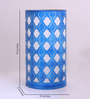 Height of Designs Blue Iron Abstract Table Lamp