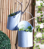 Height of Designs Blue Iron Textured Bucket Planter Set