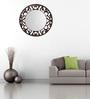 Height of Designs Brown Engineered Wood Floral Mirror