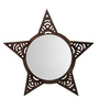 Height of Designs Brown Engineered Wood Star Mirror