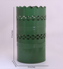 Height of Designs Green Iron Horizontal Cutwork Table Lamp