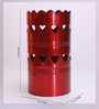 Height of Designs Red Iron Heart Table Lamp