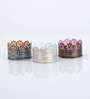 Height of Designs Multicolour Iron Circular Candle Votive - Set of 3