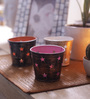 Height of Designs Multicolour Iron Star Candle Votive - Set of 3