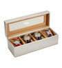 Height of Designs MDF Wood & Leatherette White Watch Box