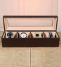 Height of Designs MDF Wood & Leatherette Brown Watch Box