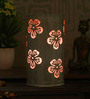 Height Of Designs White and Pink Iron Flower Table Lamp
