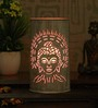 Height Of Designs White and Pink Iron Holy Budha Table Lamp