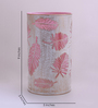 Height of Designs White and Pink Iron Palm Tree Leaf Table Lamp