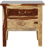 Prescott Bed Side Table in Natural Sheesham Finish by Woodsworth