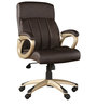 Henry Leatherette Medium Back Chair in Brown Colour by HomeTown