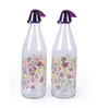 Herevin Garden 1000 ml Purple Water Bottle  Set of Two