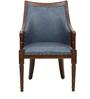 Sanford Arm Chair in Blue Colour by Amberville