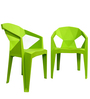 Hexo Chair Set of Two in Green Colour By Attro