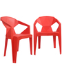 Hexo Chair Set of Two in Red Colour By Attro