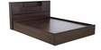 Hideki Blackline Queen Bed with Hydraulic Storage in Wenge Finish by Mintwud