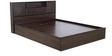 Hideki Blackline Queen Bed with Storage in Wenge Finish by Mintwud
