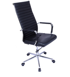 Hi-Tech High Back Executive Chair in Black Colour by Stellar