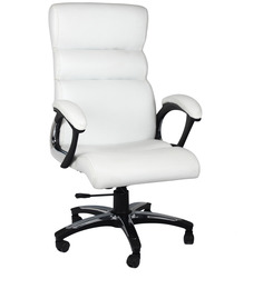 High Back Executive Chair in White Colour by Home City