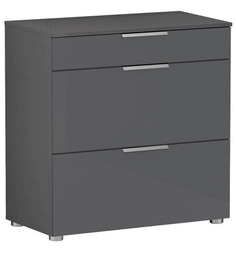 Hikoru Chest of Three Drawers Made in Denmark in Gloss Grey Finish by Mintwud
