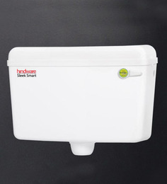 Hindware White PVC Sleek Smart Flush Cistern