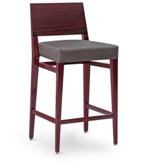 high bar chair in chocolate brown colour by be