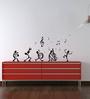 Highbeam Studio Black Self Adhesive Polyvinyl Film Dancing Notes Wall Decal