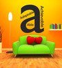 Highbeam Studio Black Self Adhesive Polyvinyl Film Letter A Wall Decal