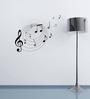 Highbeam Studio Black Self Adhesive Polyvinyl Film Musical Notes Wall Decal