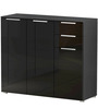 Hikoru Storage Cabinet in Gloss Black Finish by Mintwud