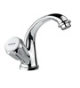 Hindware Classik Silver Brass Left Hand Operated Knob Swan Neck Basin Tap