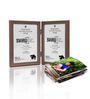 SViRU Brown Synthetic Wood 6.7 x 8.3 Inch Folding Photo Frame